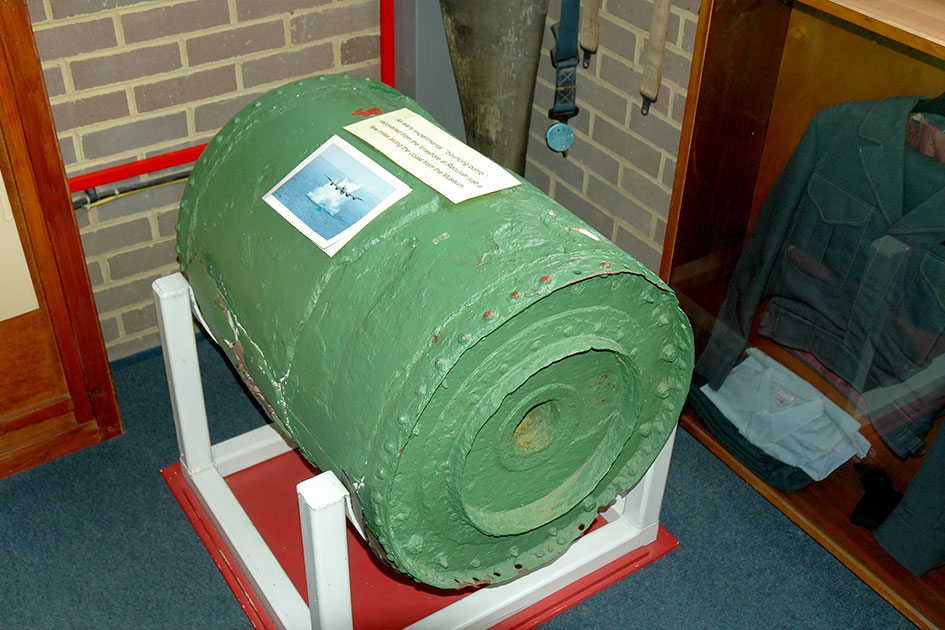 Prototype Barnes Wallace Highball bouncing bomb recovered from Reculver
