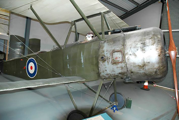 RAF Manston History Museum Sopwith 1½ Strutter replica B619 used in the film Flyboys