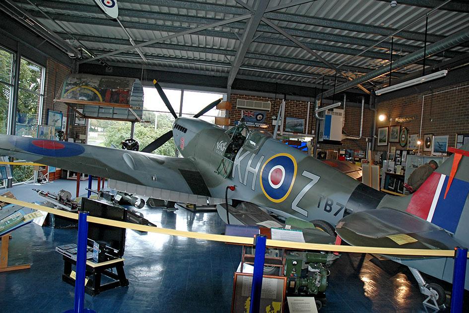 Supermarine Spitfire MK XVI LF TB752 on display at Manston Spitfire & Hurricane Museum 2010